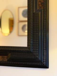 Pair of Flemish Style Faux Tortoishell and Ebonised Ripple Frame Mirrors - 1493289