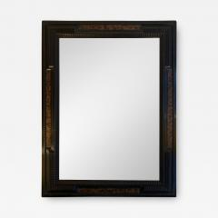 Pair of Flemish Style Faux Tortoishell and Ebonised Ripple Frame Mirrors - 1496155