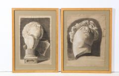 Pair of Framed Charcoal Drawings - 1155390