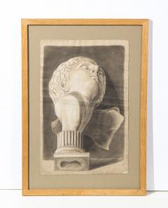 Pair of Framed Charcoal Drawings - 1155392