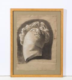 Pair of Framed Charcoal Drawings - 1155393