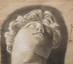 Pair of Framed Charcoal Drawings - 1155395