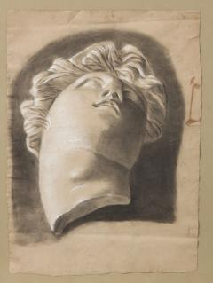 Pair of Framed Charcoal Drawings - 1155396