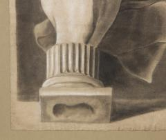 Pair of Framed Charcoal Drawings - 1155397
