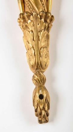Pair of French 18th Century Louis XVI Ormolu Two Arm Sconces - 636760