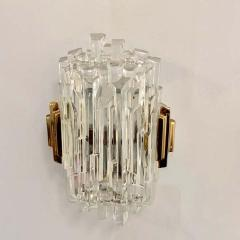 Pair of French 1970s Ice Crystal Wall Lights - 1649732