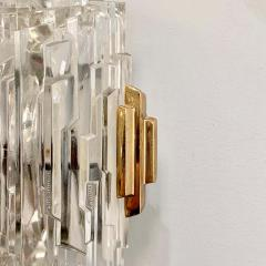 Pair of French 1970s Ice Crystal Wall Lights - 1649734