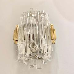 Pair of French 1970s Ice Crystal Wall Lights - 1649735