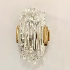 Pair of French 1970s Ice Crystal Wall Lights - 1649737