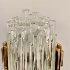 Pair of French 1970s Ice Crystal Wall Lights - 1649741