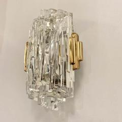 Pair of French 1970s Ice Crystal Wall Lights - 1649742