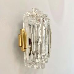 Pair of French 1970s Ice Crystal Wall Lights - 1649743