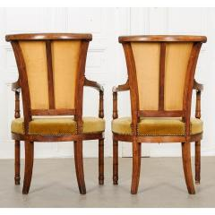 Pair of French 19th Century Directoire Style Upholstered Fauteuils - 1794822