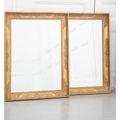 Pair of French 19th Century Empire Gold Gilt Mirrors - 1936904
