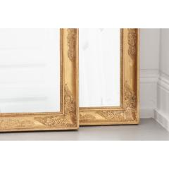 Pair of French 19th Century Empire Gold Gilt Mirrors - 1936906