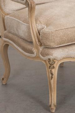 Pair of French 19th Century Louis XV Style Cr me Peinte Fauteuils  - 1817311