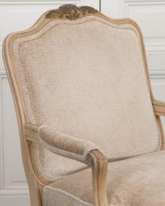 Pair of French 19th Century Louis XV Style Cr me Peinte Fauteuils  - 1817312