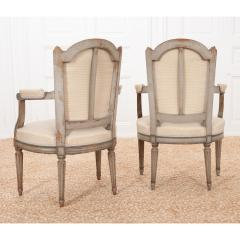Pair of French 19th Century Louis XVI Style Fauteuils - 1962180
