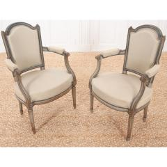Pair of French 19th Century Louis XVI Style Fauteuils - 1962194