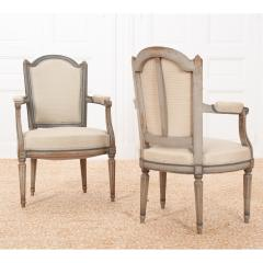 Pair of French 19th Century Louis XVI Style Fauteuils - 1962200