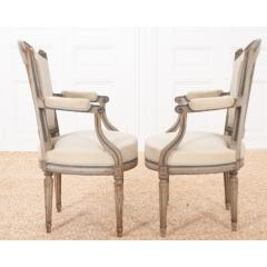 Pair of French 19th Century Louis XVI Style Fauteuils - 1962201