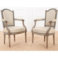 Pair of French 19th Century Louis XVI Style Fauteuils - 1962202