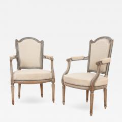 Pair of French 19th Century Louis XVI Style Fauteuils - 2052448