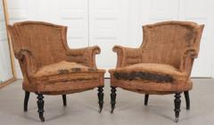 Pair of French 19th Century Structured Armchairs - 1395037