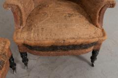 Pair of French 19th Century Structured Armchairs - 1395039
