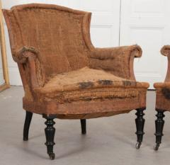 Pair of French 19th Century Structured Armchairs - 1395040