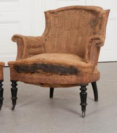 Pair of French 19th Century Structured Armchairs - 1395042