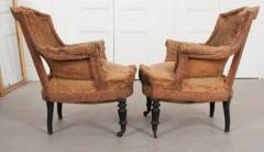 Pair of French 19th Century Structured Armchairs - 1395045