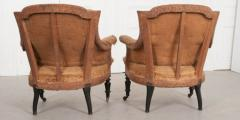 Pair of French 19th Century Structured Armchairs - 1395046
