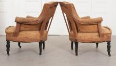 Pair of French 19th Century Structured Armchairs - 1395047