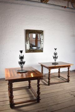 Pair of French Alsace 18th Century TrompeLOeil Veneered Rectangular Tables - 1073339