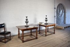 Pair of French Alsace 18th Century TrompeLOeil Veneered Rectangular Tables - 1073340