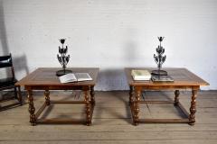 Pair of French Alsace 18th Century TrompeLOeil Veneered Rectangular Tables - 1073341