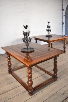 Pair of French Alsace 18th Century TrompeLOeil Veneered Rectangular Tables - 1073342