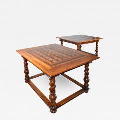 Pair of French Alsace 18th Century TrompeLOeil Veneered Rectangular Tables - 1074376