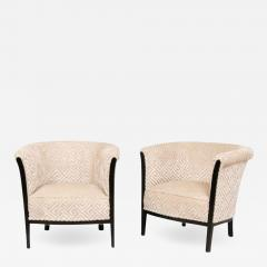 Pair of French Art Deco Armchairs salon chairs - 1745857