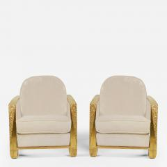 Pair of French Art Deco Club chairs - 1236051