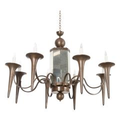 Pair of French Art Moderne Chandeliers - 1073355