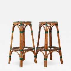 Pair of French Bistro Bar Stools - 1226114