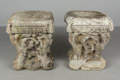 Pair Of French Cast Stone Garden Stools   662620