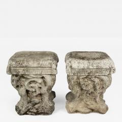 Superieur Pair Of French Cast Stone Garden Stools   663211