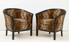 Pair of French Chairs with Leopard Fabric - 1539020