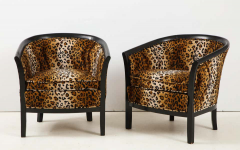 Pair of French Chairs with Leopard Fabric - 1539022