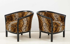 Pair of French Chairs with Leopard Fabric - 1539023