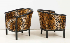 Pair of French Chairs with Leopard Fabric - 1539024