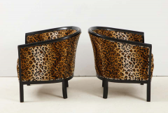 Pair of French Chairs with Leopard Fabric - 1539025